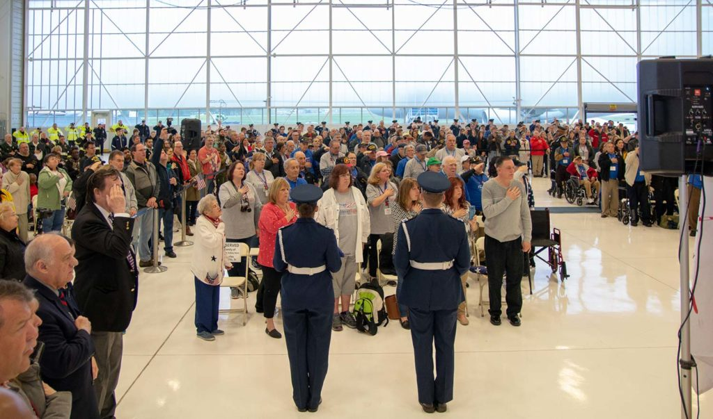 mission20 hangar send off